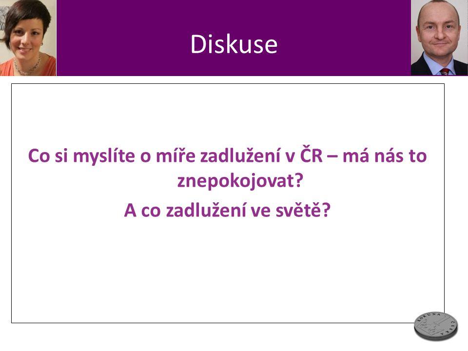 Diskuse Co si myslíte o míře zadlužení v ČR – má nás to znepokojovat? A co zadlužení ve světě?
