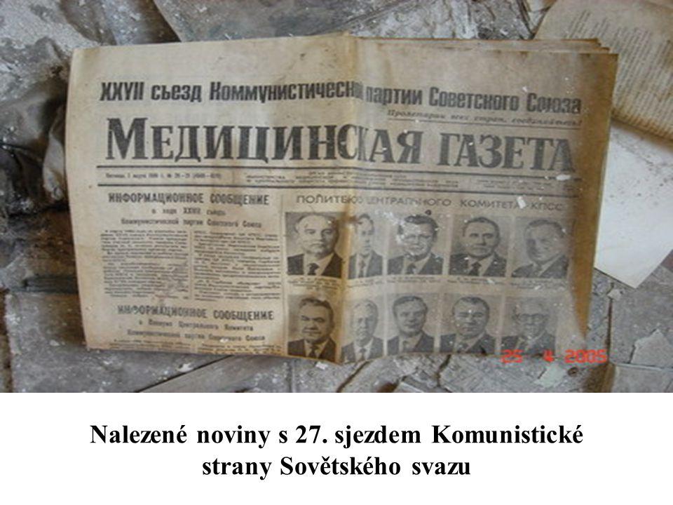 Nalezené noviny s 27. sjezdem Komunistické strany Sovětského svazu