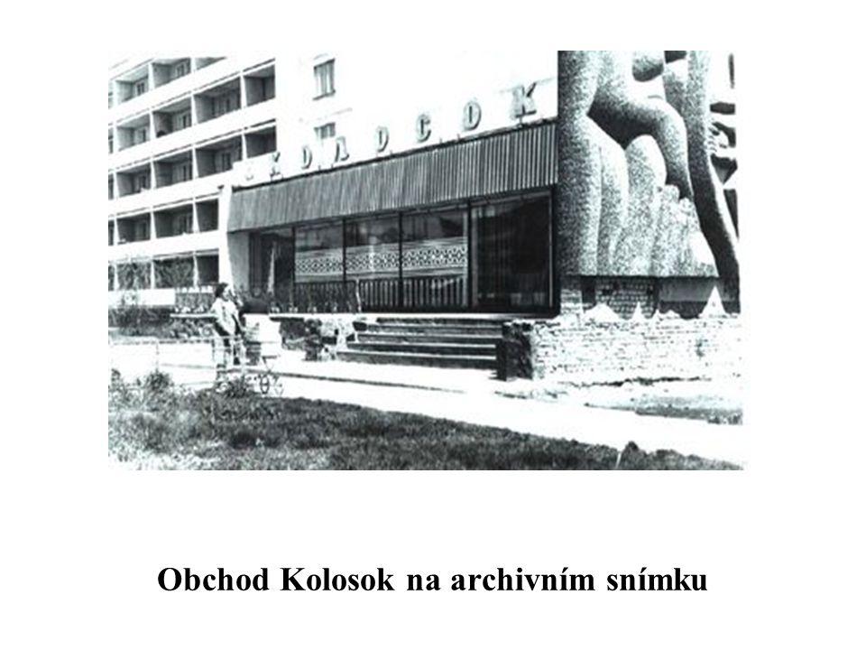 Obchod Kolosok na archivním snímku
