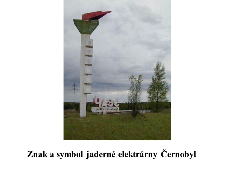 Znak a symbol jaderné elektrárny Černobyl
