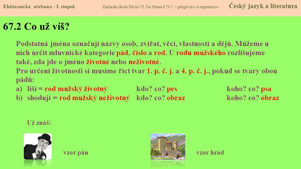 67.3 Jaké si řekneme nové termíny a názvy.Elektronická učebnice - I.