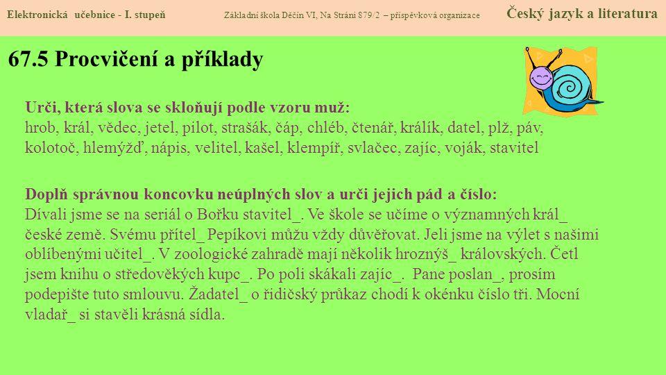 67.5 Procvičení a příklady Elektronická učebnice - I.