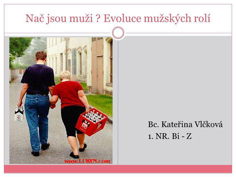 Nač jsou muži Evoluce mužských rolí Bc. Kateřina Vlčková 1. NR. Bi - Z