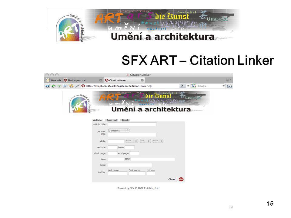 15 SFX ART – Citation Linker