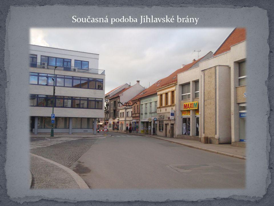 Pohled na Jihlavskou bránu z Podklášteří