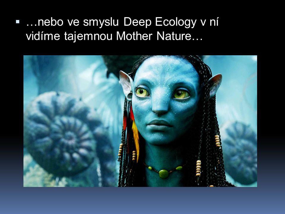  …nebo ve smyslu Deep Ecology v ní vidíme tajemnou Mother Nature…