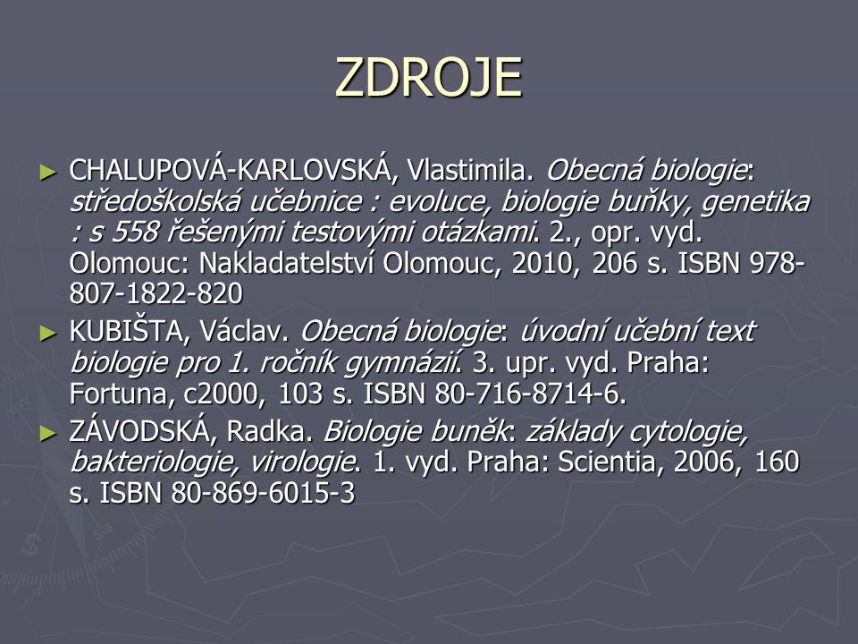 ZDROJE ► CHALUPOVÁ-KARLOVSKÁ, Vlastimila.