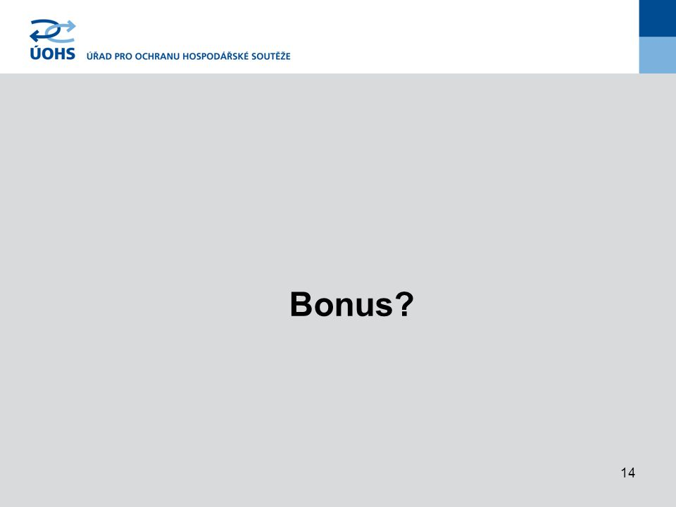 14 Bonus?