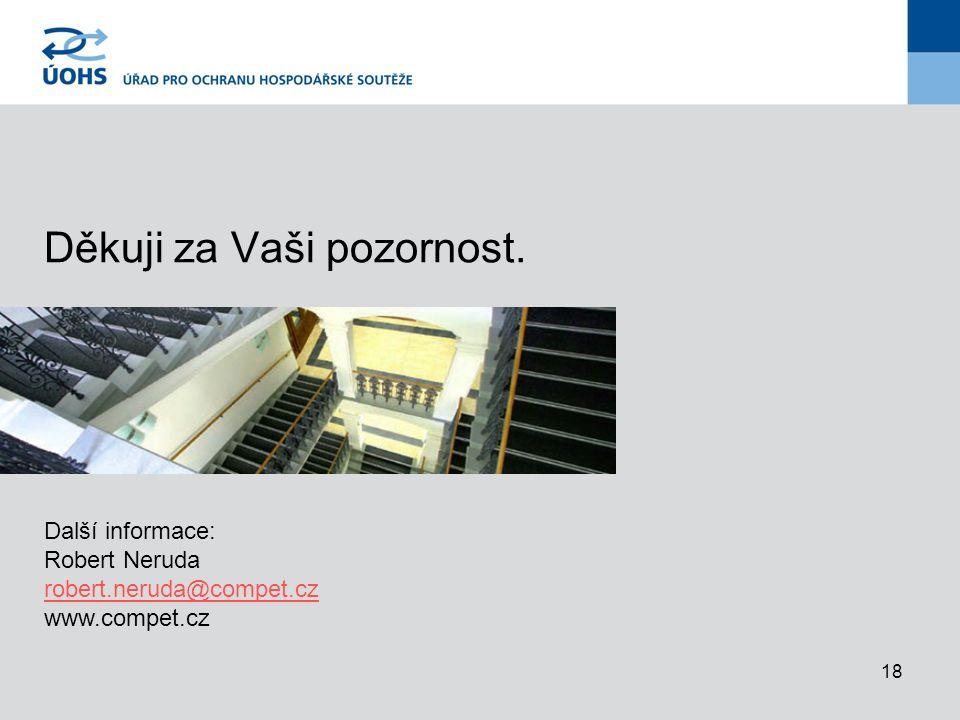 18 Děkuji za Vaši pozornost. Další informace: Robert Neruda robert.neruda@compet.cz www.compet.cz