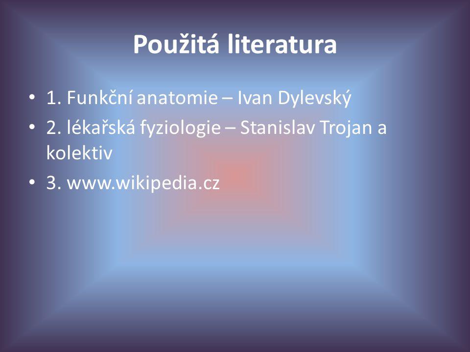 Použitá literatura 1.Funkční anatomie – Ivan Dylevský 2.