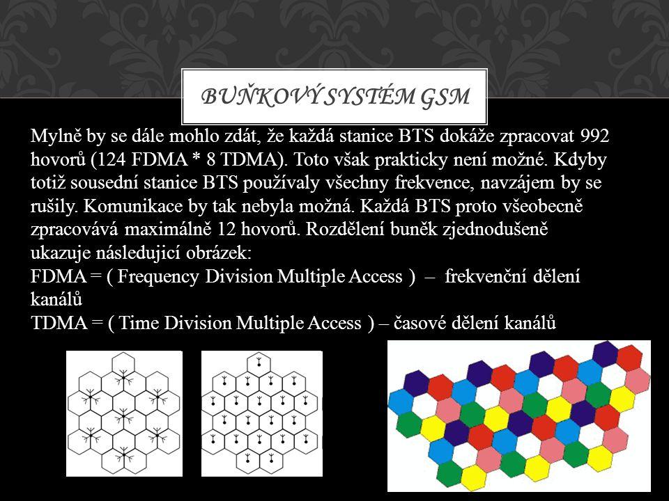 Mylně by se dále mohlo zdát, že každá stanice BTS dokáže zpracovat 992 hovorů (124 FDMA * 8 TDMA). Toto však prakticky není možné. Kdyby totiž sousedn