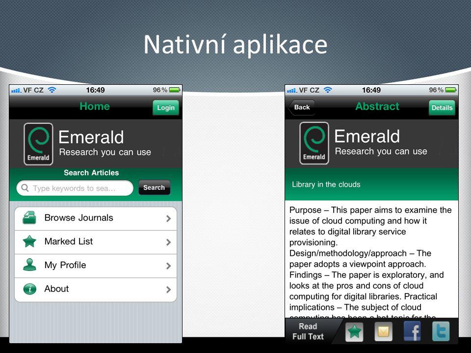 Nativní aplikace