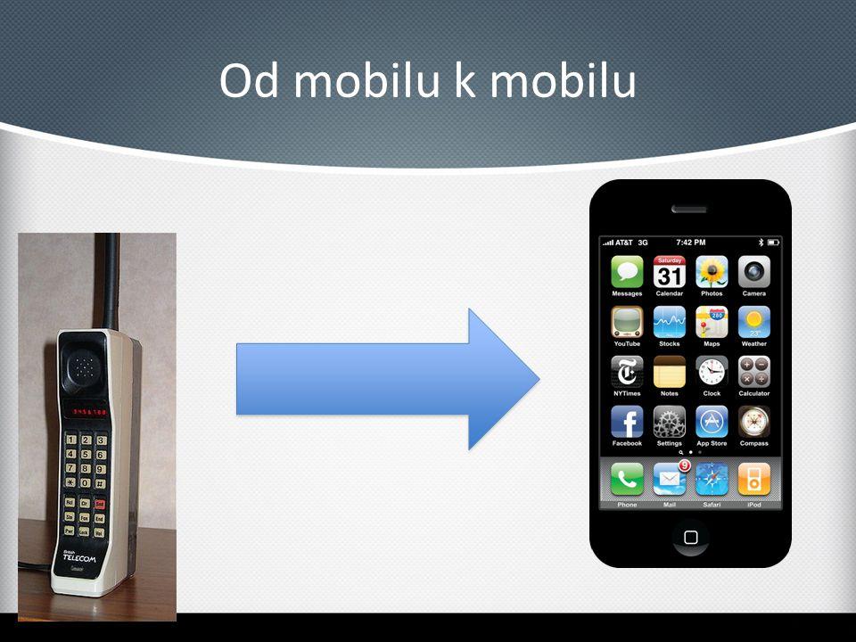 Chytrý mobil Je to počítač Má operační systém Má aplikační rozhraní, které umožňuje instalaci a spouštění programů