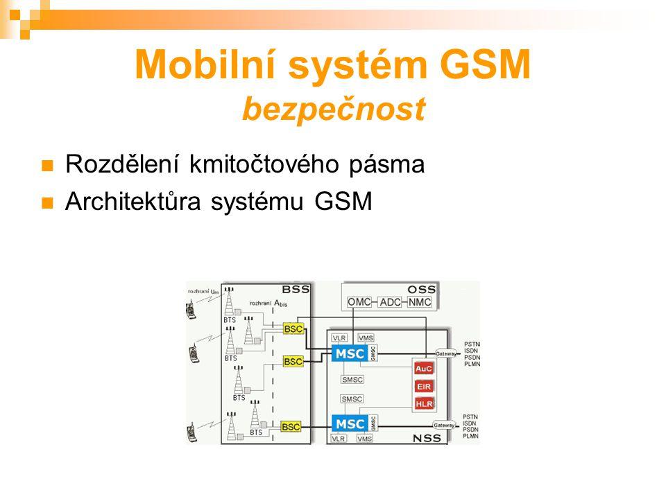 Přehled nejznámějších bezdrátových a mobilních komunikačních systémů Systém NMT 450 Systém GSM Systém IS-95 Systémy standartu DECT a CT Pagingové systémy RDS a ERMES