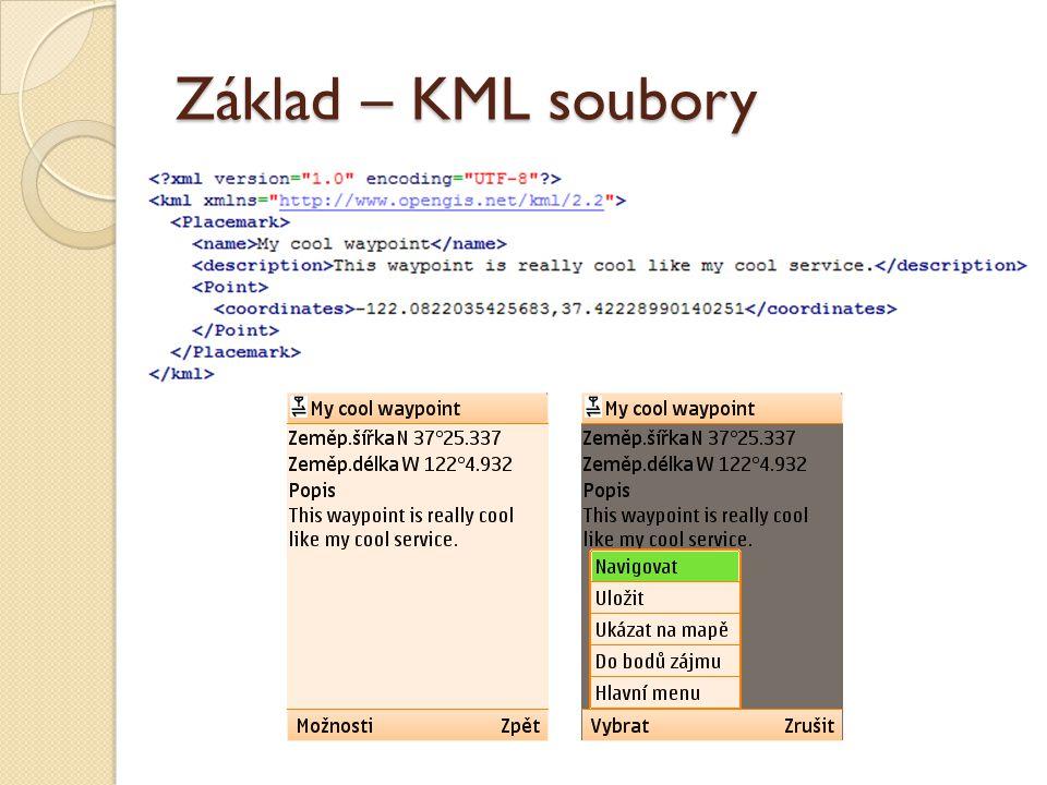 Základ – KML soubory