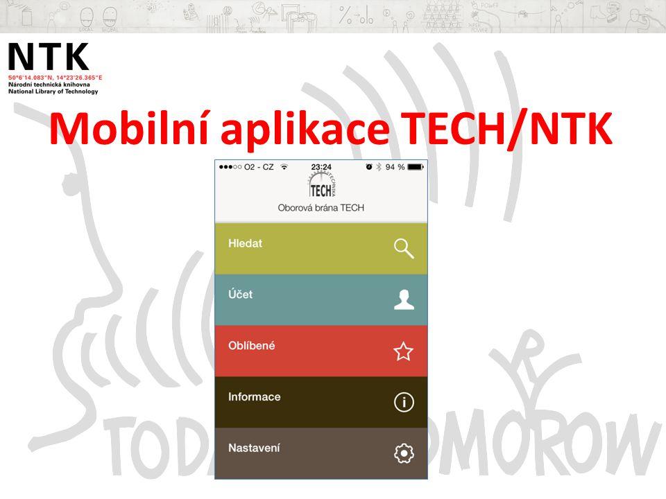 Mobilní aplikace TECH/NTK
