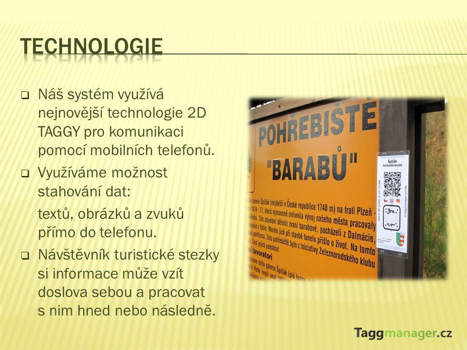  Taggmanager nabízí alternativu v místech, kde není možné kvůli rozměrům postavit klasickou velkou informační tabuli.