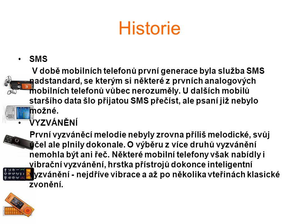 Historie SMS V době mobilních telefonů první generace byla služba SMS nadstandard, se kterým si některé z prvních analogových mobilních telefonů vůbec nerozuměly.