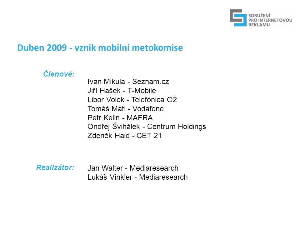 Cíle mobilní metokomise: Definovat mobilní médium Stanovit metodiku pro mobilní měření návštěvnosti Najít společnou cestu k RU Spustit měření návštěvnosti Poskytnout auditovaná data z mobilního segmentu