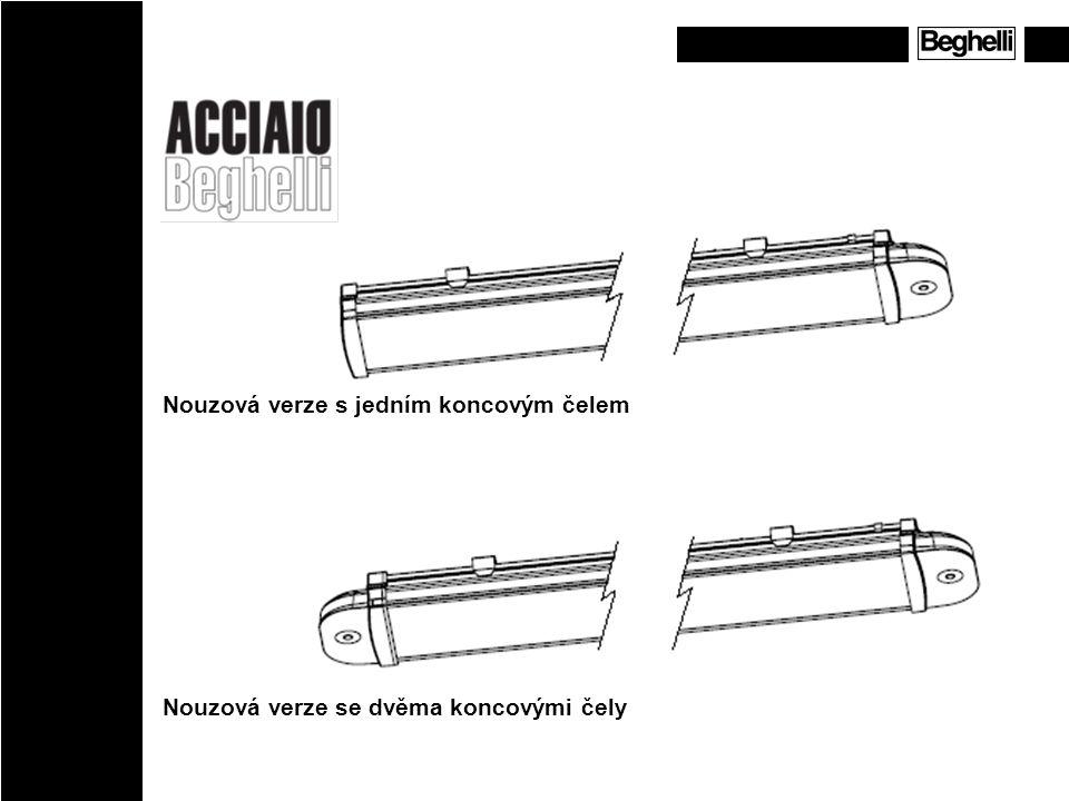 Nouzová verze s jedním koncovým čelem Nouzová verze se dvěma koncovými čely Emergency version