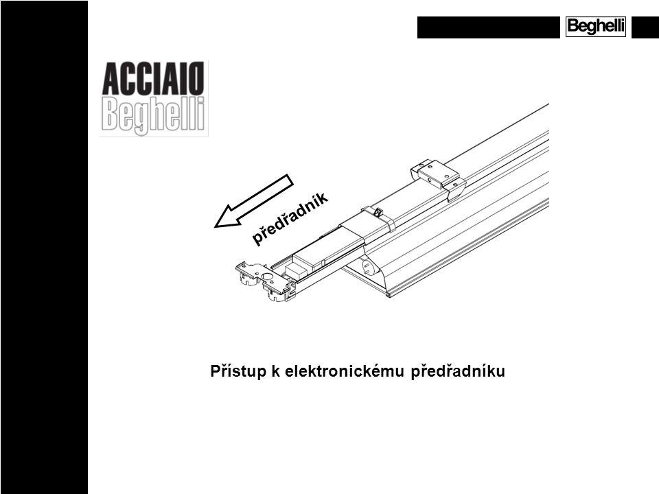 Přístup k elektronickému předřadníku předřadník