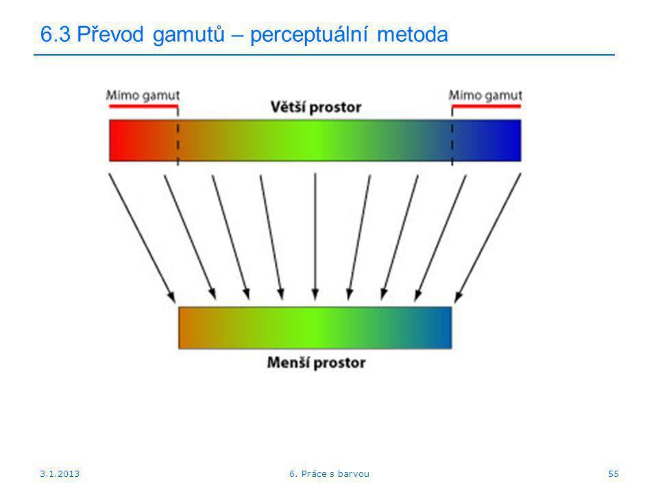 3.1.2013 6.3 Převod gamutů – perceptuální metoda 556. Práce s barvou