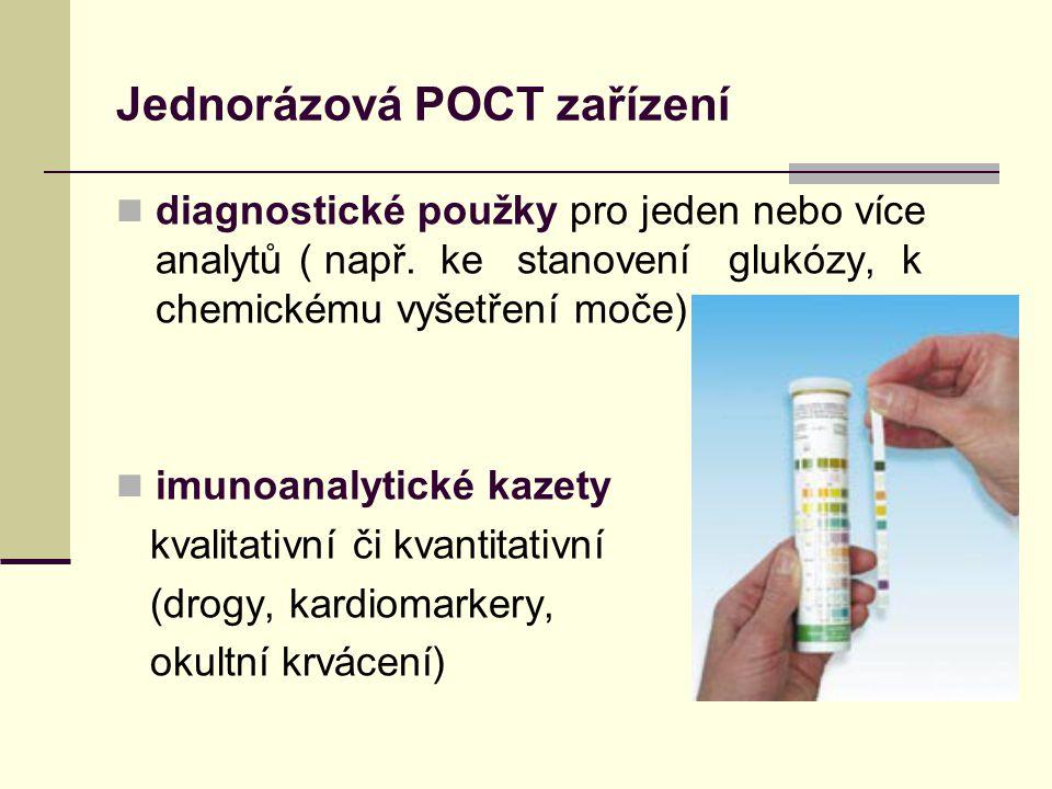 Jednorázová POCT zařízení diagnostické použky pro jeden nebo více analytů ( např.