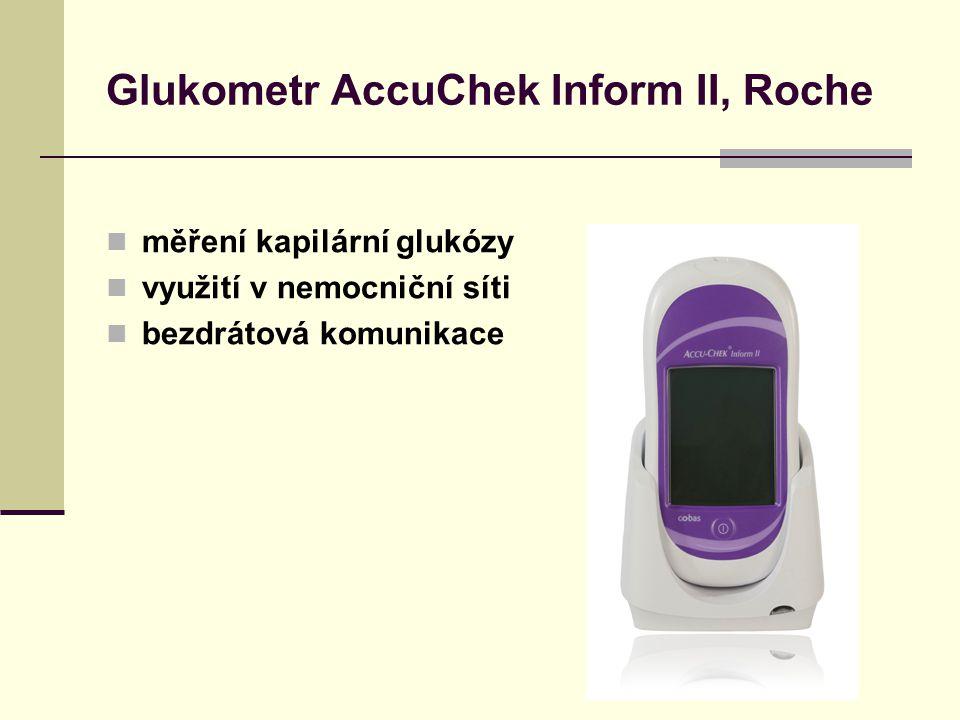 Glukometr AccuChek Inform II, Roche měření kapilární glukózy využití v nemocniční síti bezdrátová komunikace