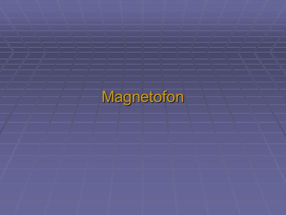 """Magnetický záznam  mechanický nosič  vrstva zmagnetovatelného prášku  částečky velikosti kolem 5 µm  """"zapamatování zmagnetováním částeček  princip využívá:  magnetofon  videokazeta  disketa  HDD"""