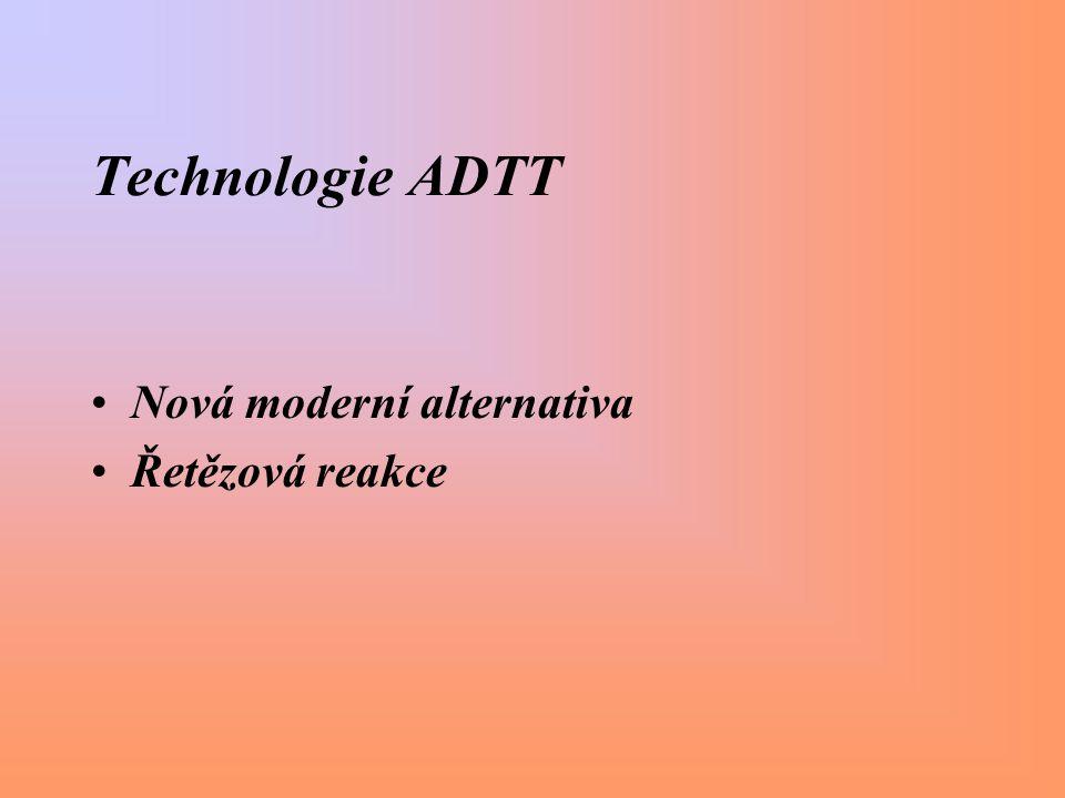 Technologie ADTT Nová moderní alternativa Řetězová reakce