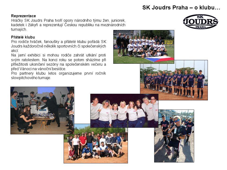 SK Joudrs Praha – o klubu… Reprezentace Hráčky SK Joudrs Praha tvoří opory národního týmu žen, juniorek, kadetek i žákyň a reprezentují Českou republiku na mezinárodních turnajích.