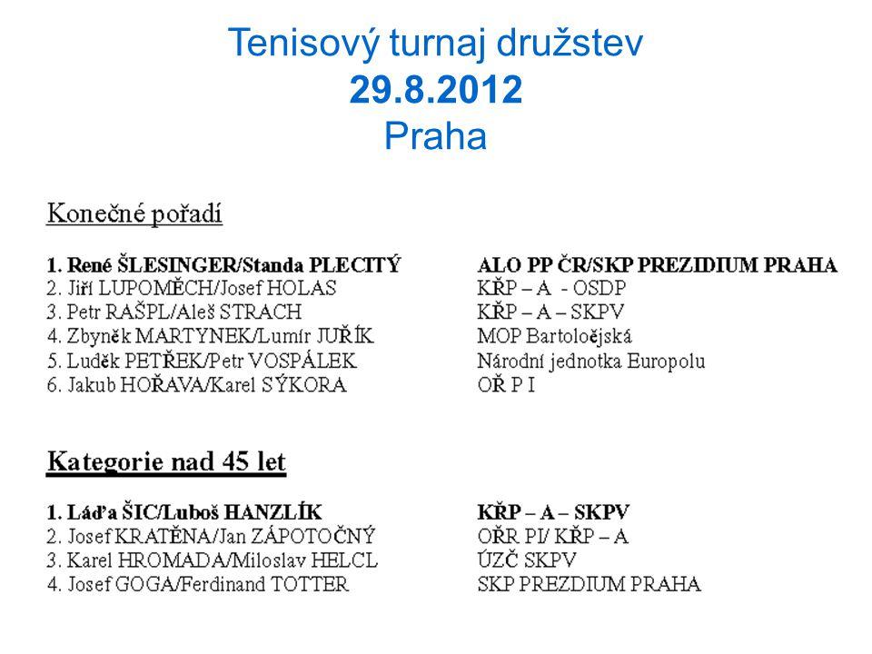 Tenisový turnaj družstev 29.8.2012 Praha