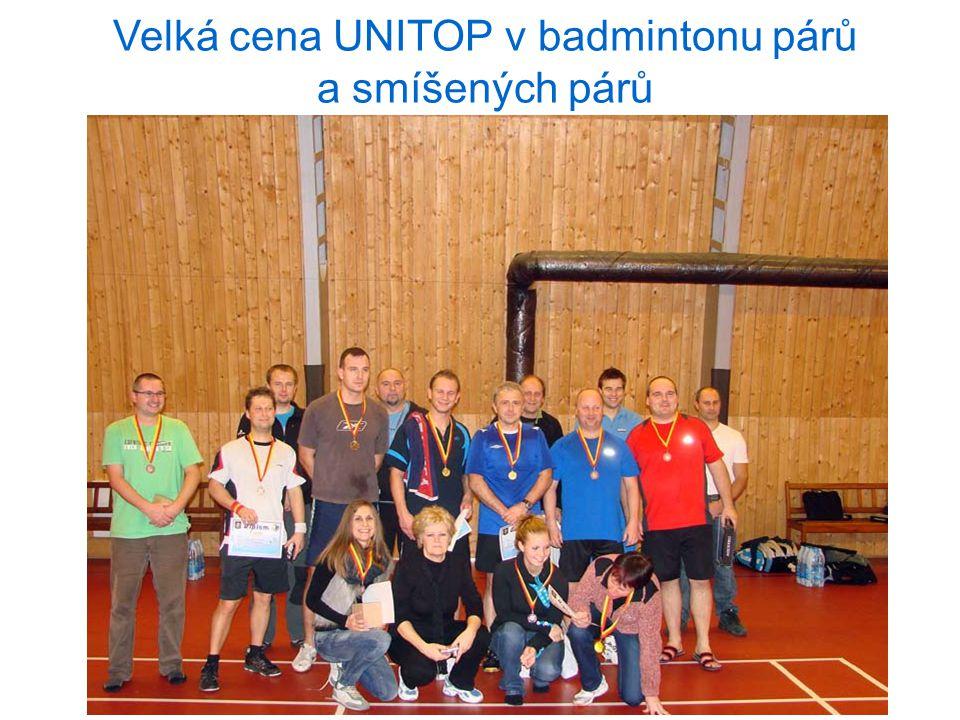 Velká cena UNITOP v badmintonu párů a smíšených párů 6.12.2012 Praha
