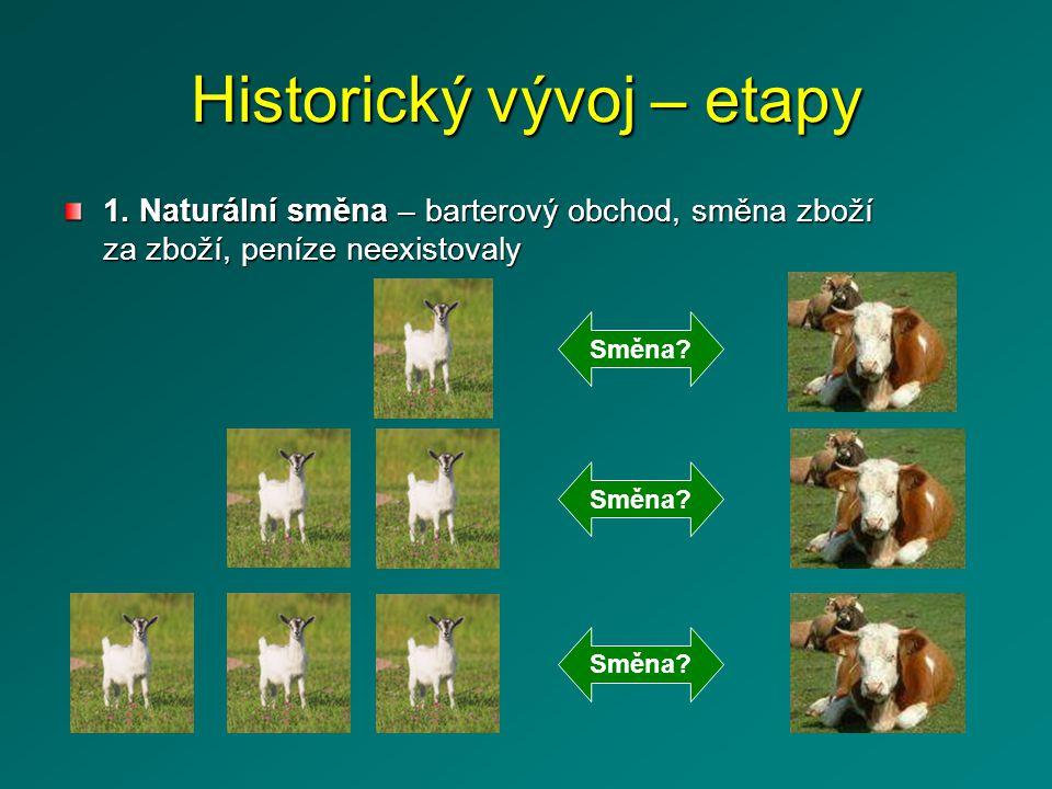 Historický vývoj – etapy 1.
