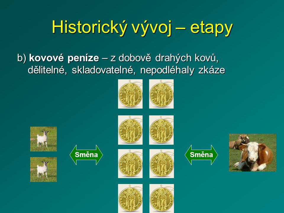 Historický vývoj – etapy 3.