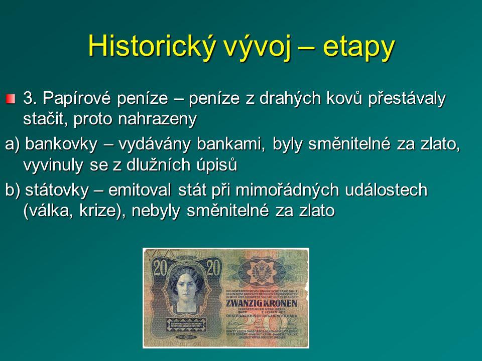 Historický vývoj – etapy 4.