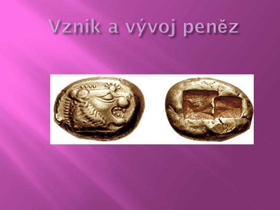 Velmi dlouhá doba užívání minci vedla na druhé straně k poznatkům, že:  peníze plní zvláštní funkce – funkci oběhové,  při směně je možné oddělit okamžik předání zboží od okamžiku úhrady,  o oběh používaných mincí je nutno pečovat,  plnohodnotné peníze je možno nahradit v oběhu penězi neplnohodnotnými, v první fázi se jednalo zejména o neplnohodnotné mince (měď), později o peníze papírové,  použití neplnohodnotných peněz vyžaduje buď moc, nebo všeobecně přijímanou garanci v systému směny – neplnohodnotné peníze jsou tak charakterizovaný tzv.