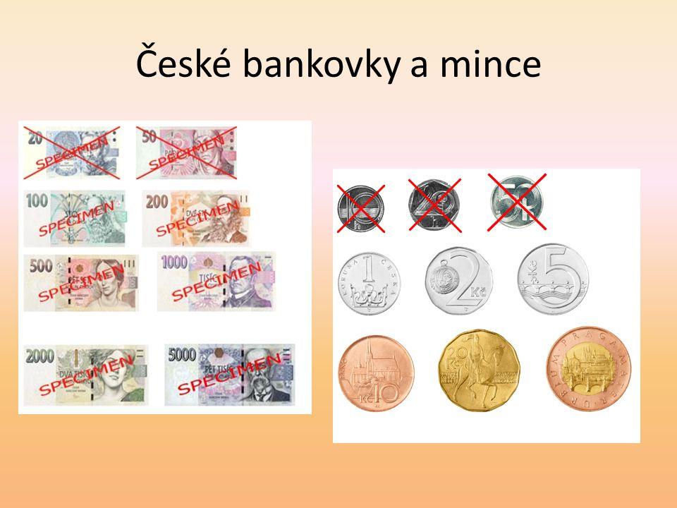 České bankovky a mince