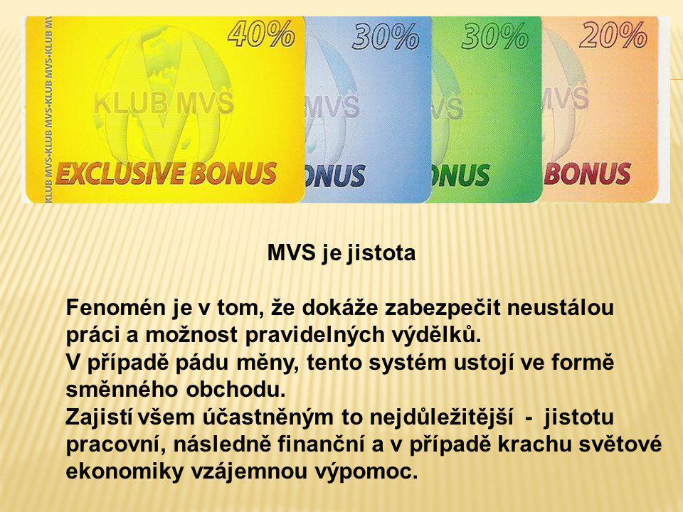 MVS je jistota Fenomén je v tom, že dokáže zabezpečit neustálou práci a možnost pravidelných výdělků. V případě pádu měny, tento systém ustojí ve form