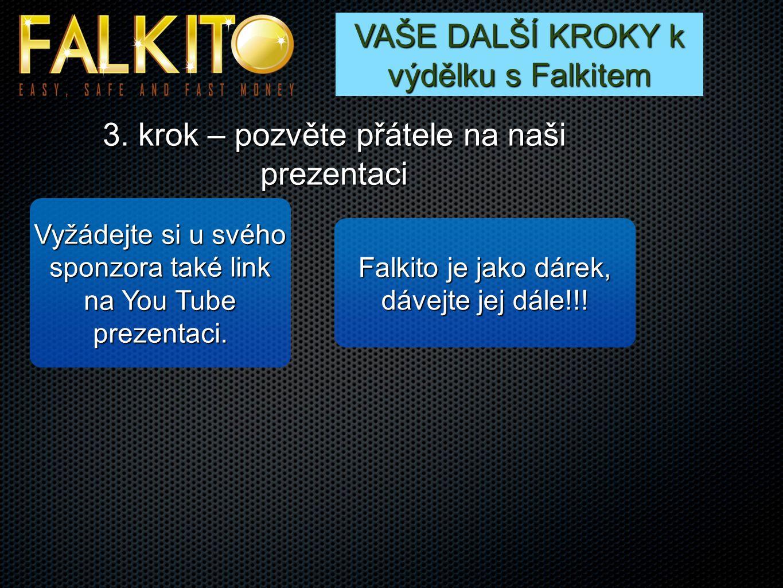 VAŠE DALŠÍ KROKY k výdělku s Falkitem 3.