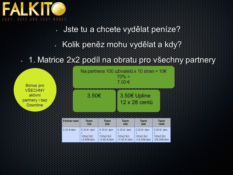 Penny – aukce (příklad) Artikl 1 Ipad hodnota500€Artikl hodnota500€ Nabídky až do dosažení 1000€ 1000€ 1000Euro1000Euro 250€ partner 700€ prodejce/partner Nabídky v posledních 24 hodinách Nabídky v posledních 24 hodinách kupující do max.