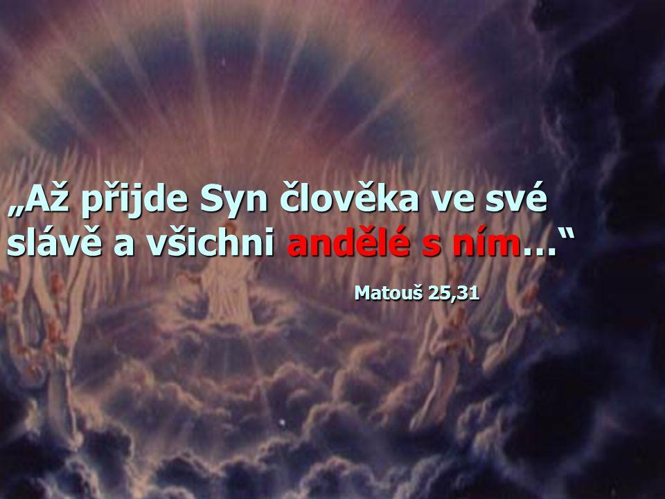 """""""Tehdy se ukáže znamení Syna člověka na nebi; a tu budou lomit rukama všechny čeledi země a uzří Syna člověka přicházet na oblacích nebeských s velkou"""
