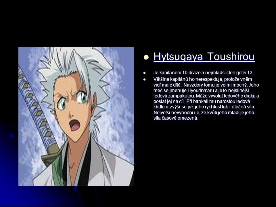 Hytsugaya Toushirou Hytsugaya Toushirou Je kapitánem 10.divize a nejmladší člen gotei 13.