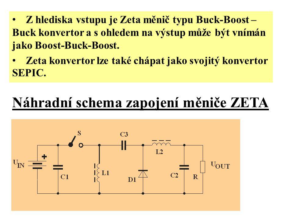 Z hlediska vstupu je Zeta měnič typu Buck-Boost – Buck konvertor a s ohledem na výstup může být vnímán jako Boost-Buck-Boost.