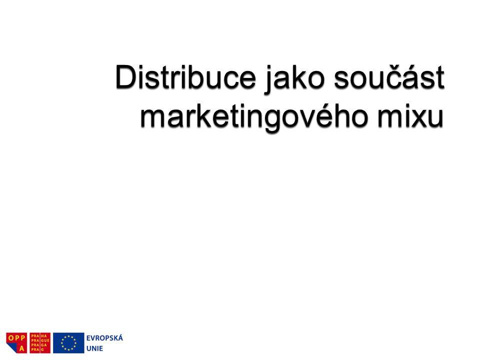 Distribuce znamená pohyb produktů z místa jejich vzniku do místa jejich konečné spotřeby nebo opakovaného užívání.