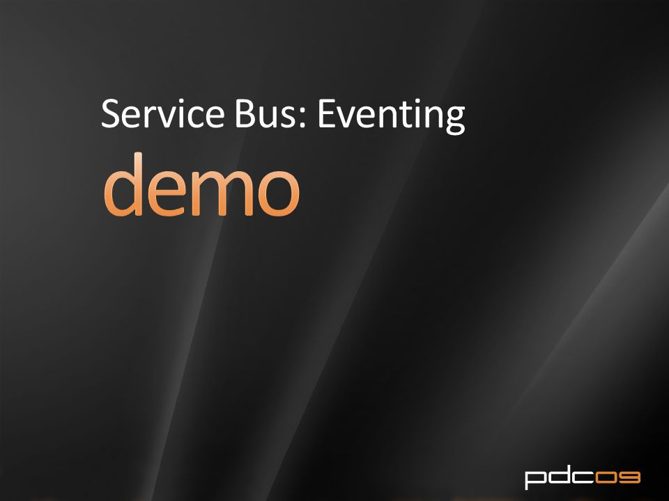 Service Bus: Eventing
