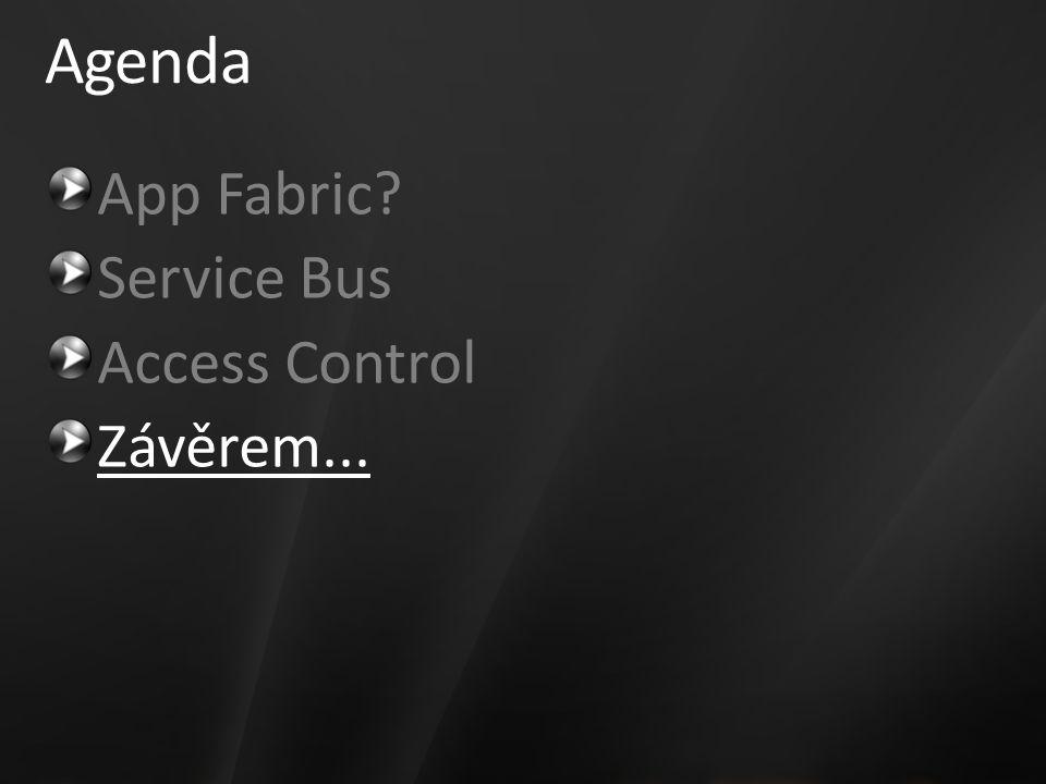 Agenda App Fabric Service Bus Access Control Závěrem...