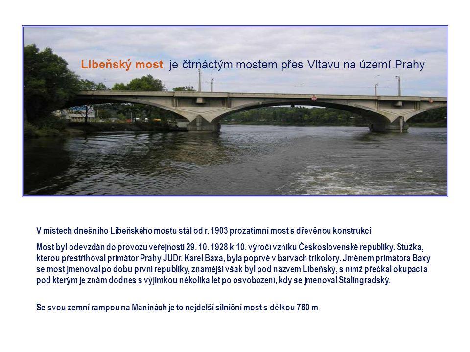 Negrelliho (Karlínský) viadukt je třináctým mostem přes Vltavu na území Prahy Zároveň je to druhý nejstarší dosud stojící most přes Vltavu v Praze a p