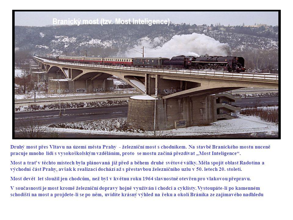 Štefánikův most (dříve Švermův ) Most císaře Františka Josefa I Jako druhý řetězový most byl vystavěn v letech 1865-1868 Most císaře Františka Josefa I., avšak více se užíval lidovější název po jeho manželce - Eliščin most.