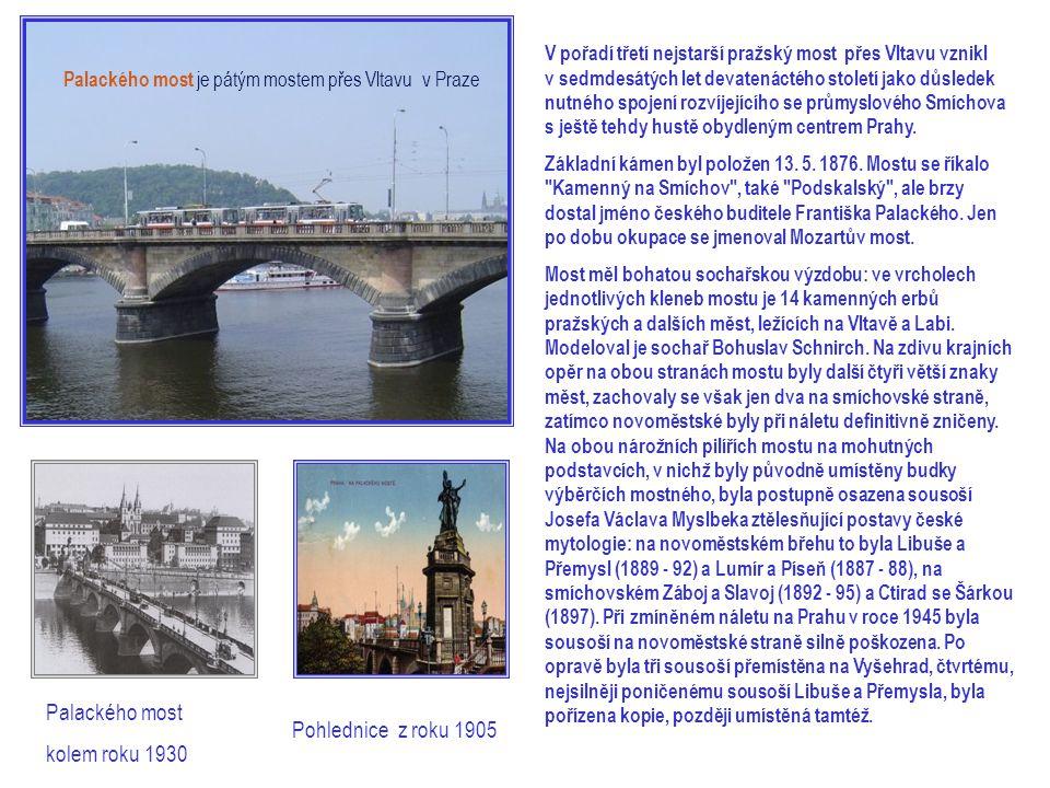 V pořadí třetí nejstarší pražský most přes Vltavu vznikl v sedmdesátých let devatenáctého století jako důsledek nutného spojení rozvíjejícího se průmyslového Smíchova s ještě tehdy hustě obydleným centrem Prahy.